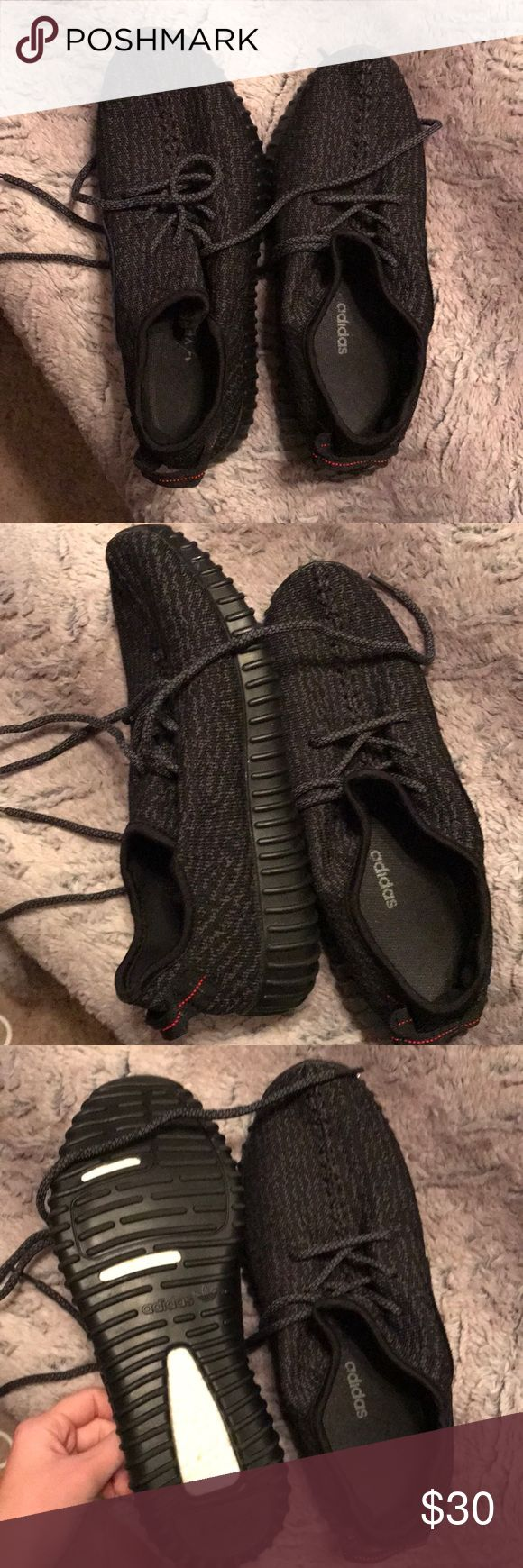 not authentic black yeezys not authentic  black yeezys size 8.5 worn once adidas Shoes Sneakers