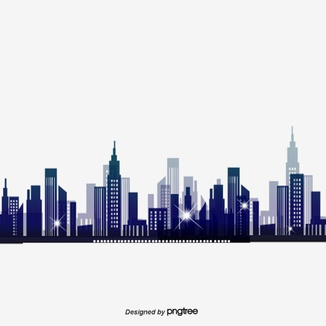 Abstract Fantasy City Silhouette Vector Material City Clipart Building City Png Transparent Clipart Image And Psd File For Free Download City Silhouette Silhouette Vector Silhouette Illustration