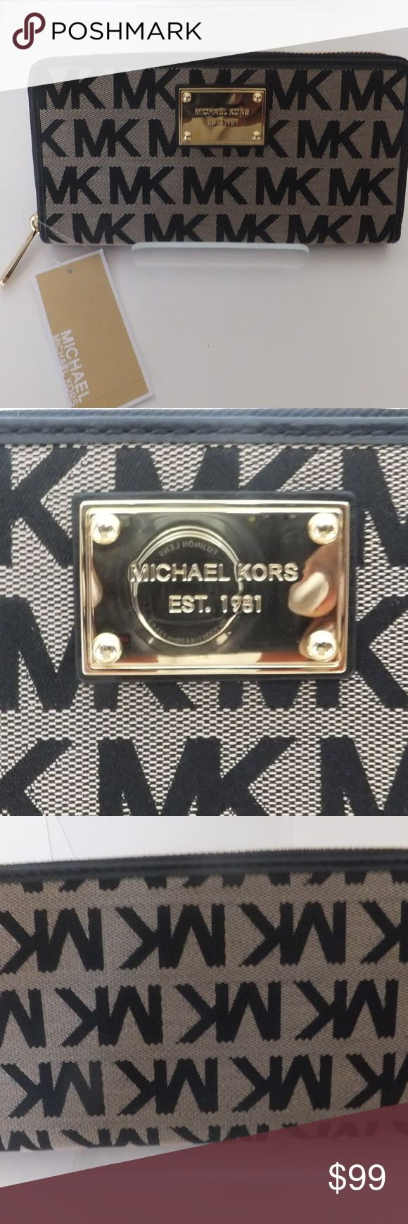 MK CONTINENTAL MONOGRAM WALLET LG CONTINENTAL MONOGRAM WALLET LG Michael Kors Bags Wallets
