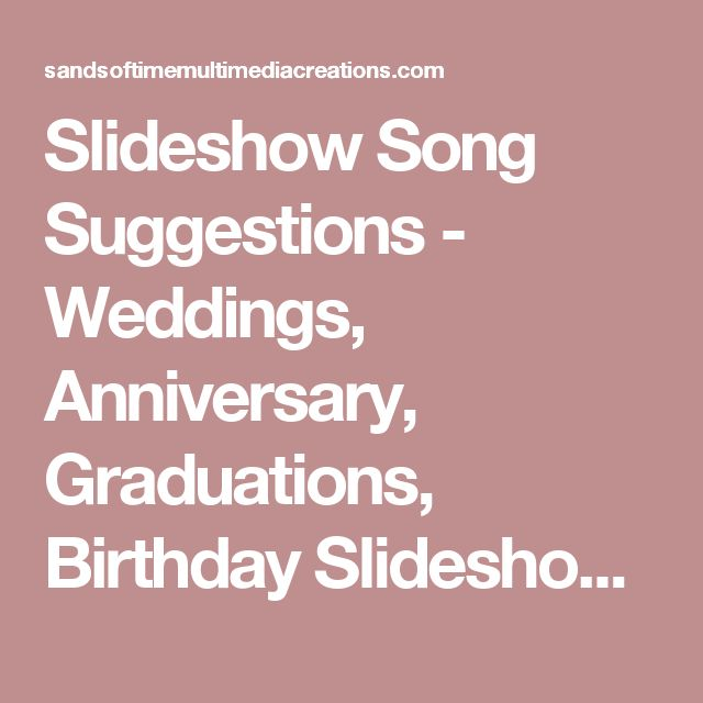 Wedding Slideshow Songs: 25+ Best Ideas About Slideshow Songs On Pinterest