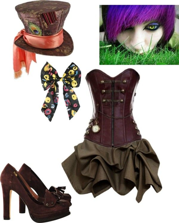 """""""The Mad Hatter costume"""" by sperrbear101 ❤ liked on Polyvore"""