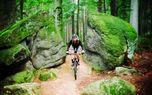 Mountain bike on professional tracks - Medium - Amazing mountain bike track passing through sandstones.