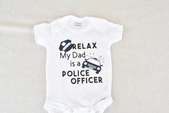 My Daddy Can Arrest Your Daddy Funny Police Officer Gift Baby Gerber Onesie
