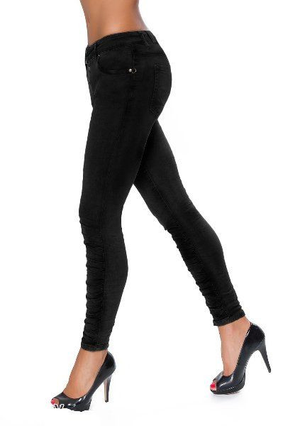 Kalhoty trubky 643 > varianta Černá > XL