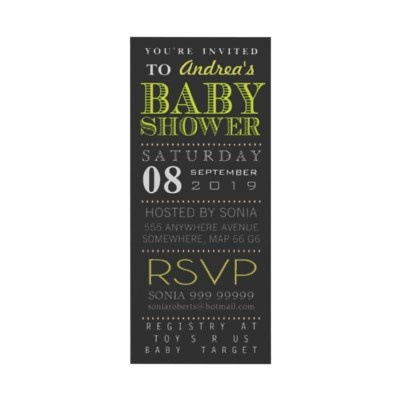 invite template :: baby shower modern typography