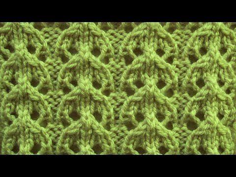 Красивый ажурный узор спицами. Простые узоры спицами. Вязание спицами Larisa Chmyh №35 - YouTube