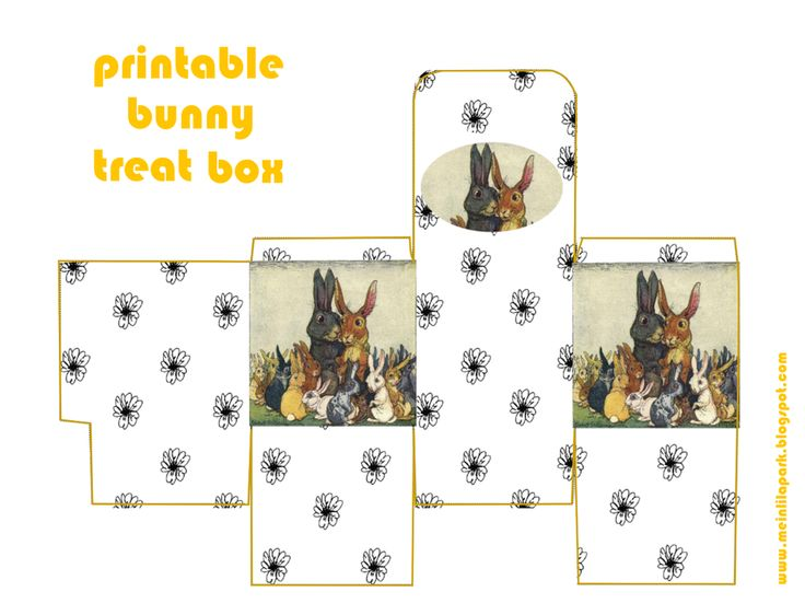 1702 best kutular images on pinterest gift boxes wrapping gifts free printable diy gift box with bunny familiy negle Image collections