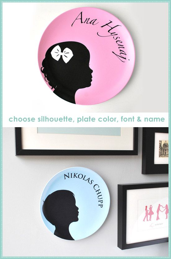 Mother's Day gifts? Silhouette plates: use plastic colored plates from $1 store and trace shape with overhead. Paint. Could we use cricut to cut out shape and then modpodge?
