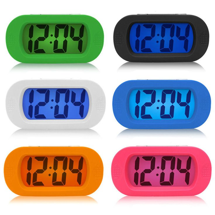 New LCD Digital Large Screen Snooze Alarm Clock Night Light with Silicone Cover | Home, Furniture & DIY, Clocks, Alarm Clocks & Clock Radios | eBay!
