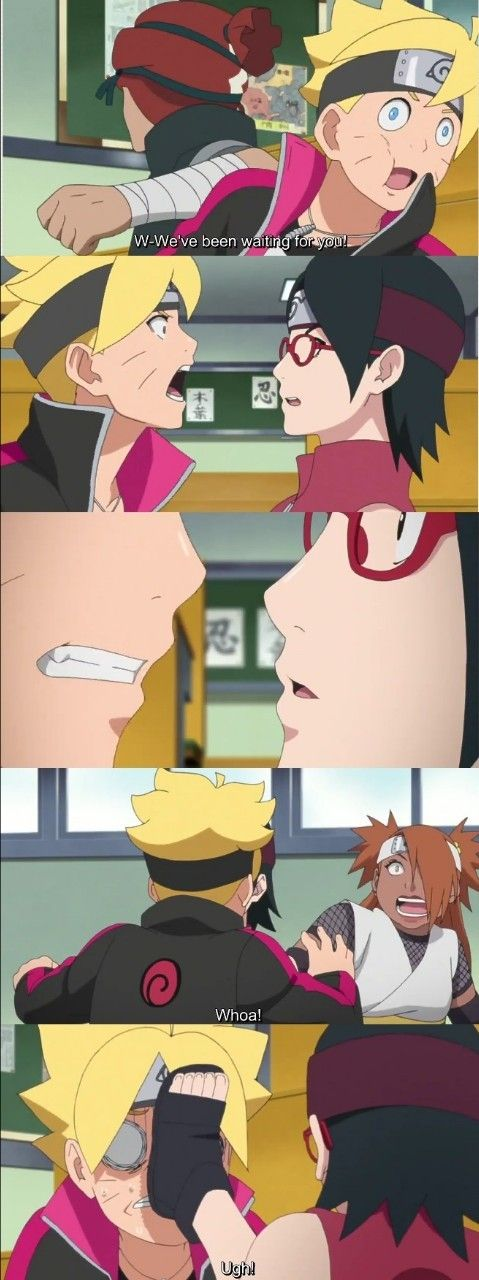 Boruto and Sarada's First Kiss happened!  Episode 38 was insane ❤️❤️❤️ #BoruSara