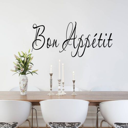 Vinyl-Wall-Stickers-Quote-Bon-Appetit-Dinning-Room-Decor-Kitchen-Decals-Art