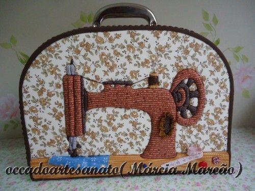 Maleta para costura!!!! - Marcia Marcão Pano Pintado - Terra Fotolog:
