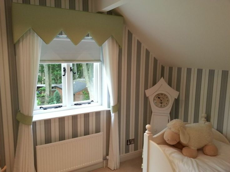 Fab spare bedroom set off perfectly with this striped - Wallpaper and curtain sets ...
