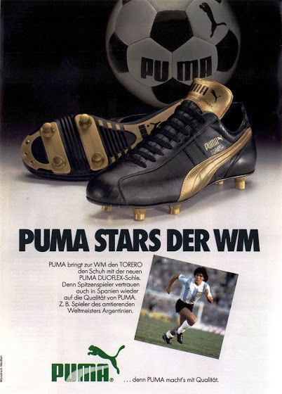 PUB. Puma. Maradona. ~ THE VINTAGE FOOTBALL CLUB  008971fb0