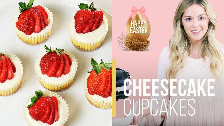 Cupcake Cheesecakes W/Strawberries|EASTER DESSERTS|Cayla Jordan TV