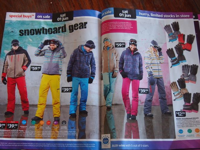Aldi Snow Gear Sale 2013