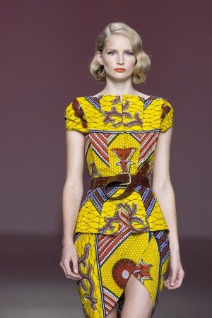 African Fabric on the catwalk