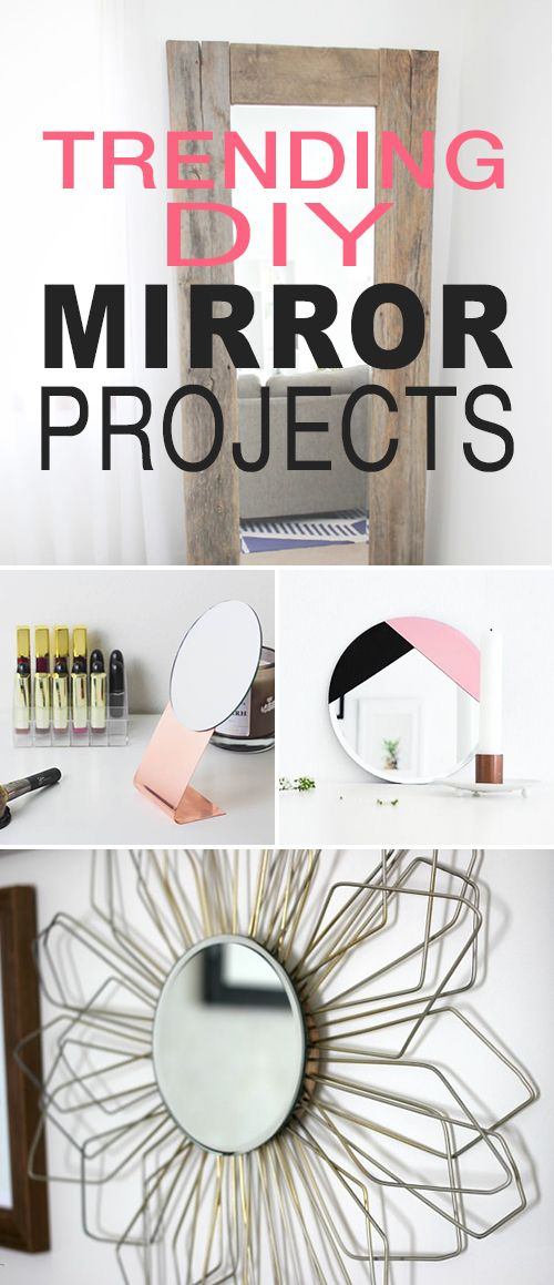 trending diy mirror projects reflect a larger space - Small Space Diy Decor