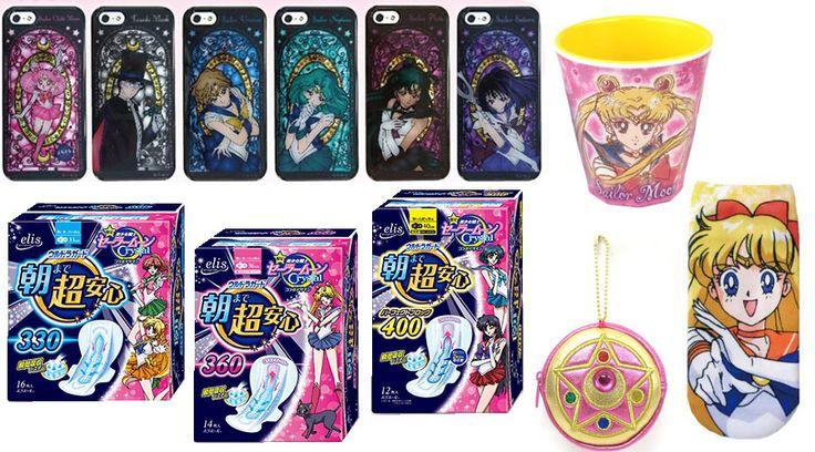 Sailor Moon Fans dürfen sich über tolle Souvenirs freuen: Damenbinden inklusive