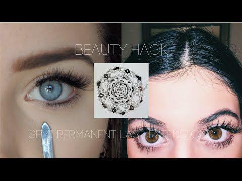 Beauty Hack DIY Semi Permanent Eyelash Extensions - YouTube