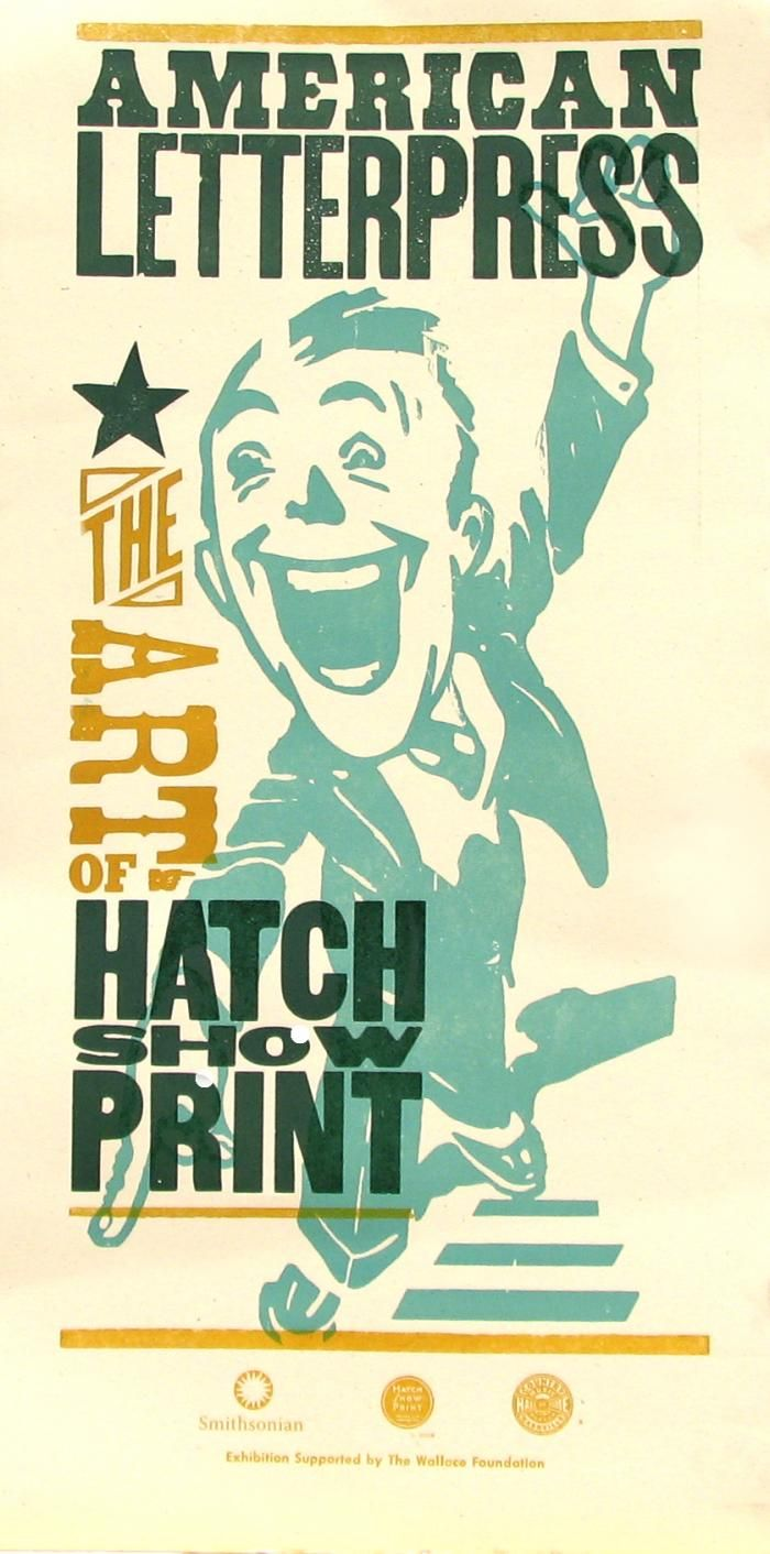 hatch show print fonts layouts pinterest letterpresses printing and typography. Black Bedroom Furniture Sets. Home Design Ideas