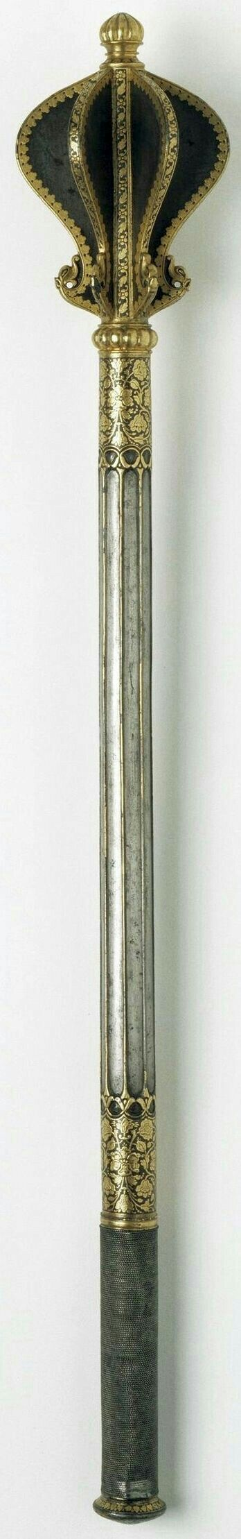 Flanged mace, ornate looking.