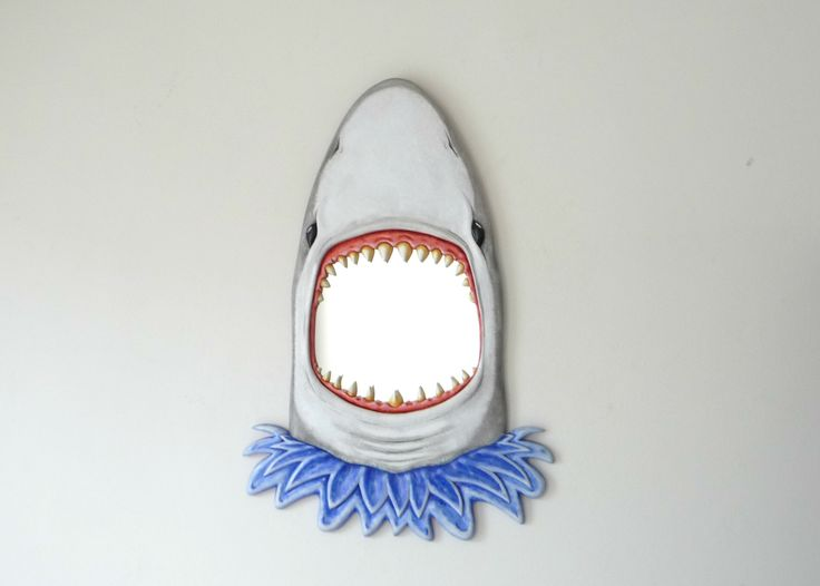 It's all about the Shark - Highly Unique wall art mirror from FunkyMirrors.