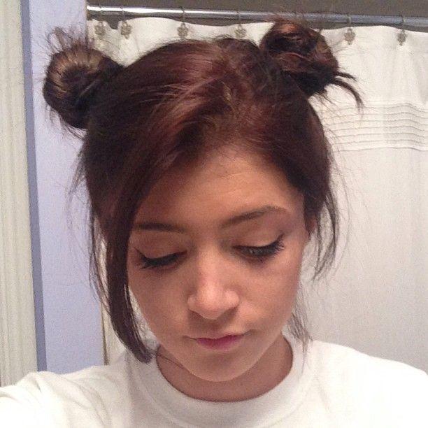 Chrissy Soo Cute In Brown Like And Bun Style Hair