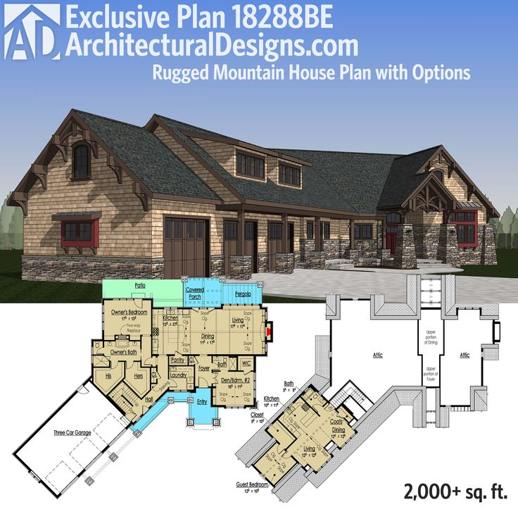 Plan 18288BE: Rugged Mountain House Plan With Options Part 30