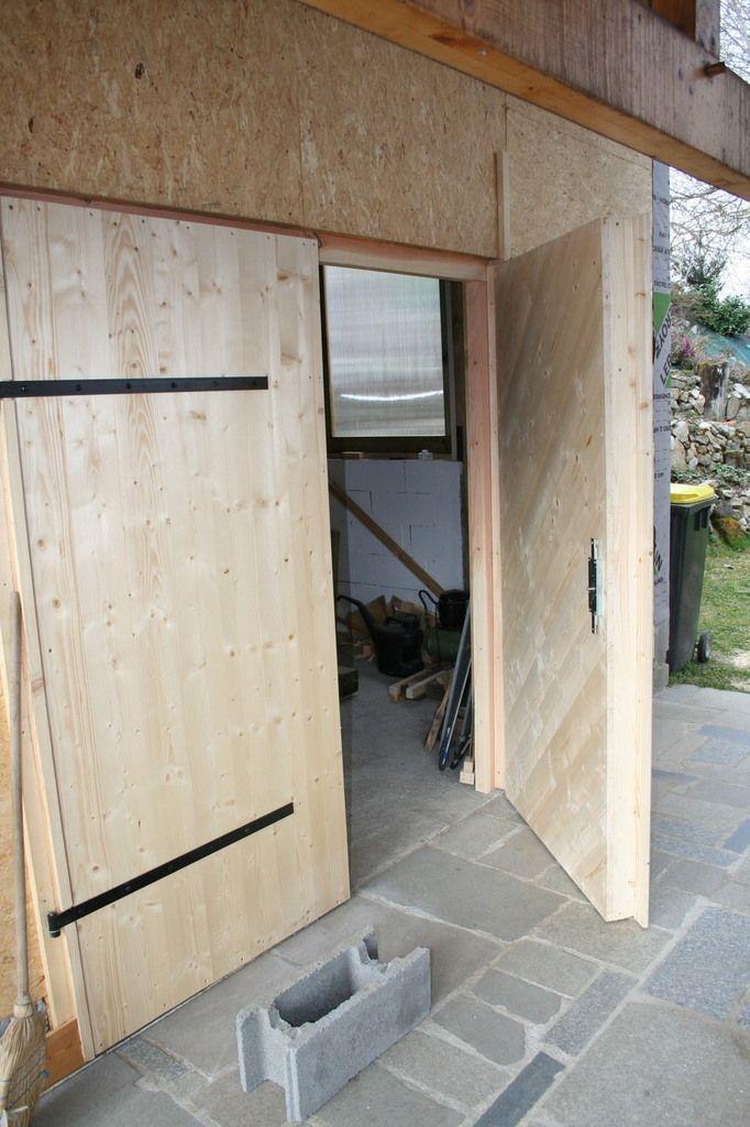 Porte Atelier Garage Bois Maison Bioclimatique Bois Garage Bois Porte Garage Bois Garage
