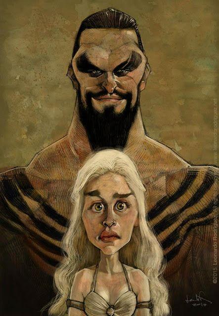 El actor Jason Momoa y la actriz Emilia Clarke, Khal Drogo y Daenerys Targaryen respectivamente, ca...