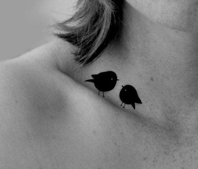 two little birds....would like to build up the courage to get this   cute-tattoo