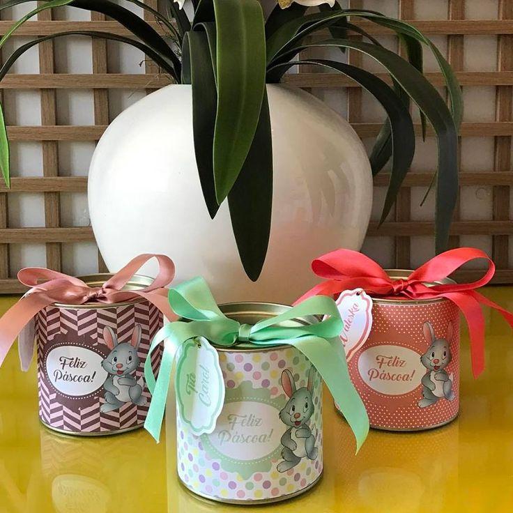 Lembrancinhas de páscoa personalizadas produzidas por Mônica Guedes