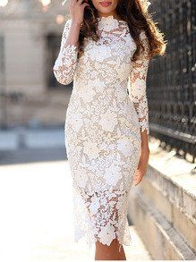 Best 25  White dress ideas on Pinterest | White sleeved dresses ...
