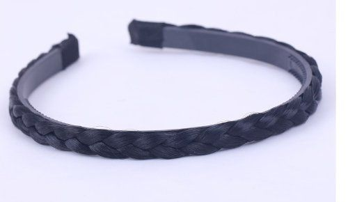 Fashion Synthetic Wig Plait Braided Hairband Headband Holder (8*130mm) by Golden dragon. $15.00. wig plait. headband holder. hair band. braid. color:black width:0.59in