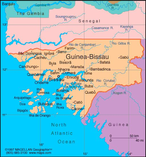 Guinea-Bissau Atlas: Maps and Online Resources | Infoplease.com