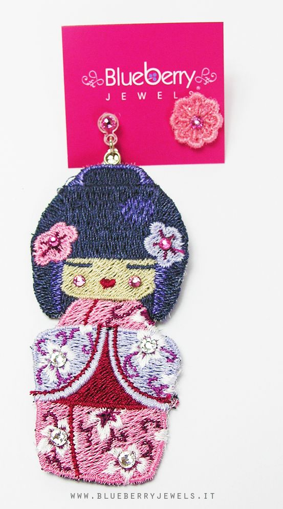 kokeshi doll earrings by #blueberryjewels http://www.blueberryjewelstore.com