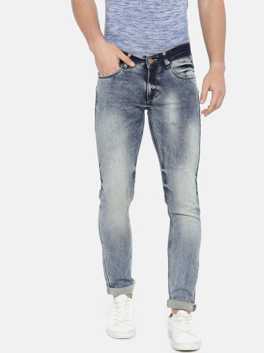 0c162859 SPYKAR Men Blue Skinny Fit Low-Rise Clean Look Stretchable Jeans - | 1949