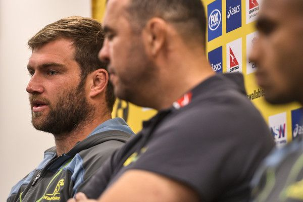 Ben McCalman Photos Photos - Ben McCalman of the Wallabies speaks to the media during a press conference at Sydney Cricket Ground on August 18, 2016 in Sydney, Australia. - Wallabies Team Photo Session