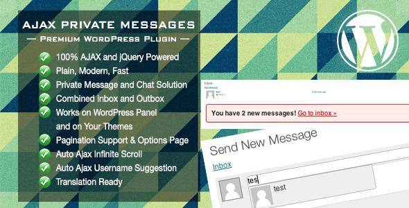 Ajax Private Messages WordPress Plugin