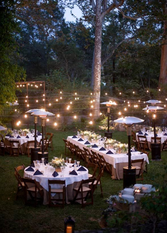 31 Lovely Beautiful But Cheap Wedding Venues Romantic Backyard Outdoor Wedding Backyard Dinner Party