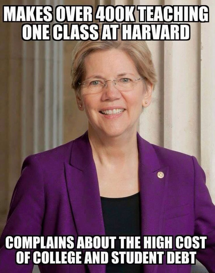 The unbelievable hypocrisy and ignorance of the people who vote for frauds like her.  GnG