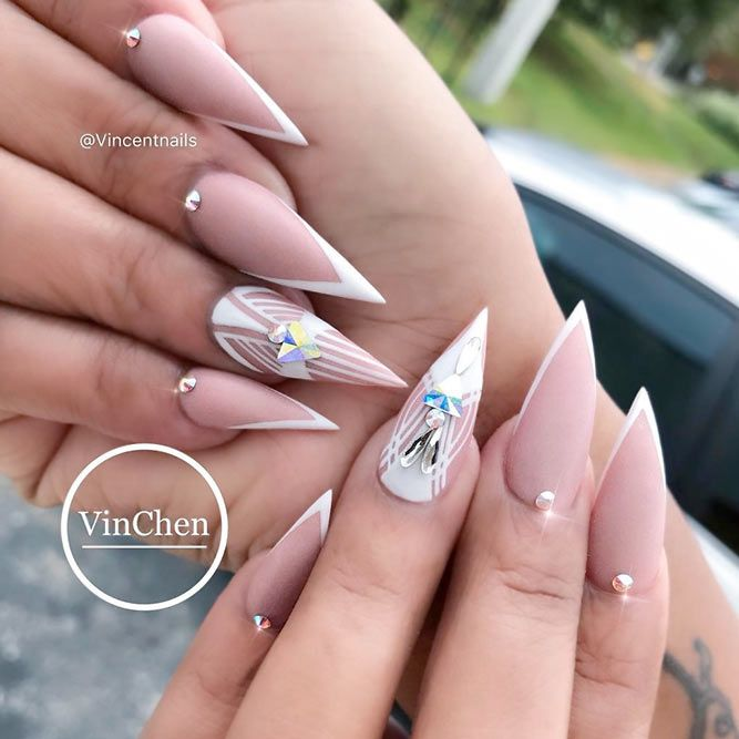 Inspiring Stiletto Nails To Win Over You Naildesignsjournal Com Pointy Nail Designs French Stiletto Nails Stiletto Nails Designs