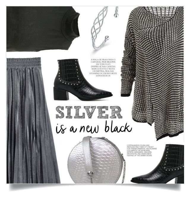 """""""Silver Is A New Black"""" by mahafromkailash ❤ liked on Polyvore featuring Magdalena and Hedi Slimane"""