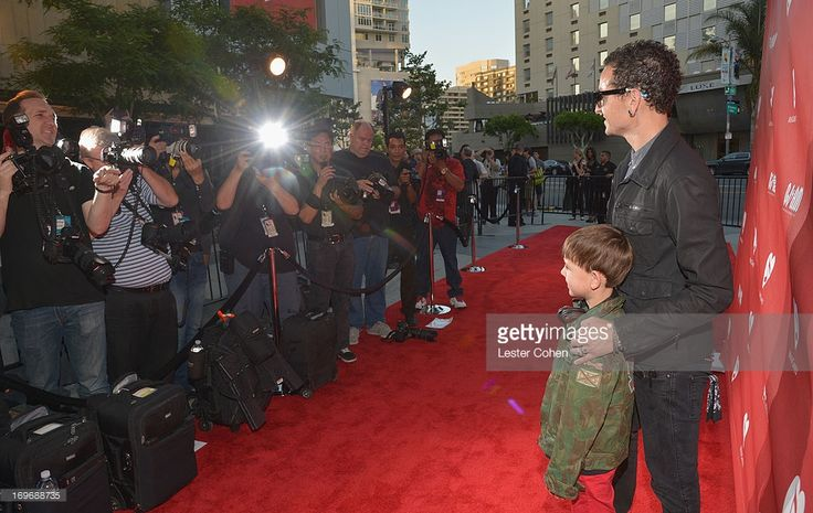 Musician Chester Bennington and son Tyler Lee Bennington attend the 2013 MusiCares MAP Fund Benefit Concert honoring Chester Bennington and Tony Alva at Club Nokia on May 30, 2013 in Los Angeles, California.