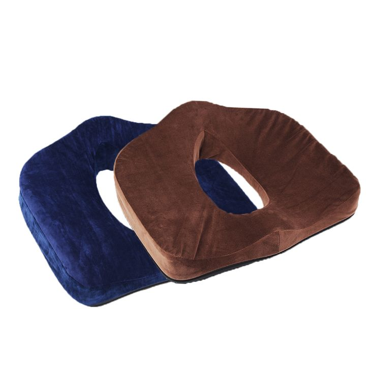 Cojín de la silla del asiento de la espuma de la memoria Almohada de la ayuda del coxis de la ortopédica alivia el dolor del posparto