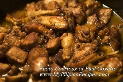 OK last Filipino dish for now....Chicken and pork adobo.