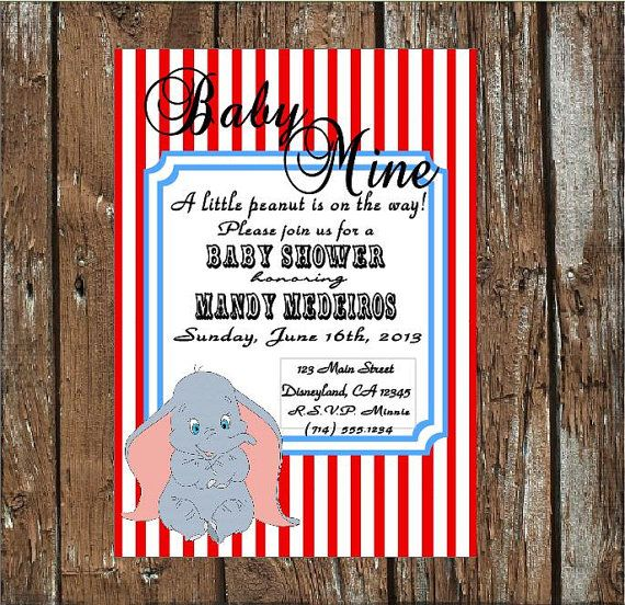 Printable Dumbo Baby Shower Invitation by SugarBritchesBakery, $15.00