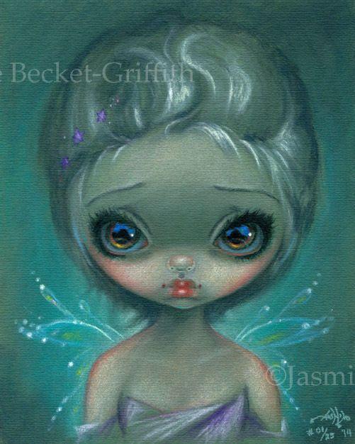 Verdigris Fairy pastel Jasmine Becket-Griffith CANVAS PRINT big eye lowbrow art