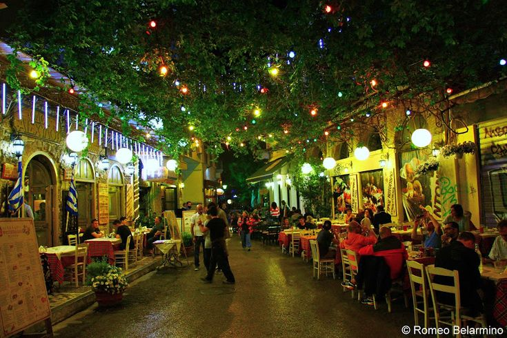 Athens   where to eat  Outside Aischilou Grill House Psyri